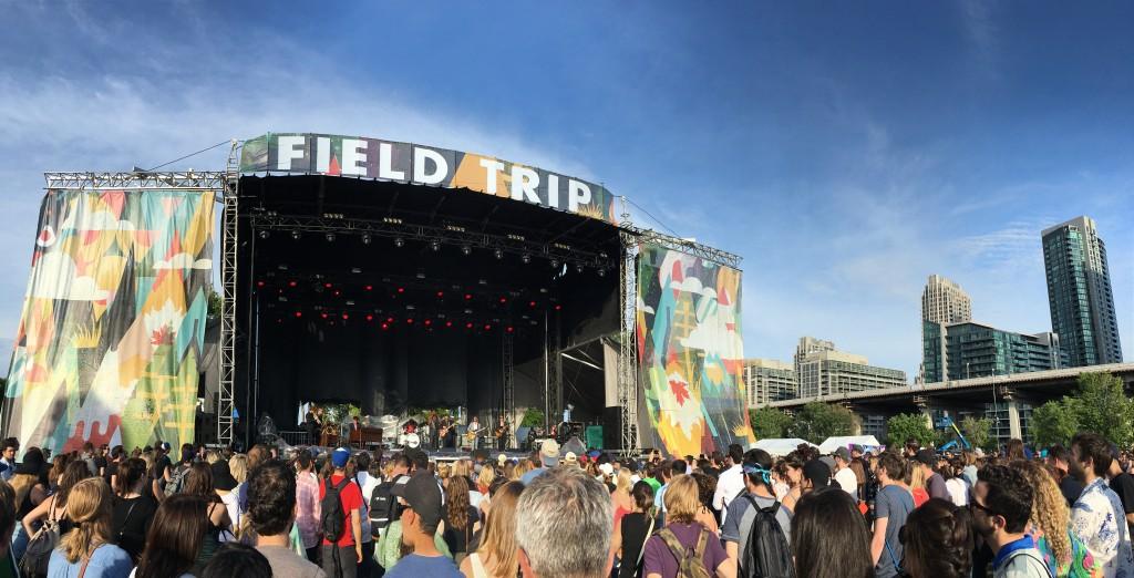 Soul singer Charles Bradley at Field Trip 2016 following the rain delay.